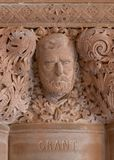 Ulysses S. Grant stonework in New York State Capitol stock images