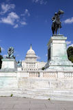 Ulysses S Grant statua i capitol budynek Zdjęcia Royalty Free