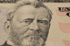 Ulysses Simpson Grant. American president portrait on dollar bills Ulysses Simpson Grant stock photos