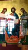Um ícone ortodoxo grego original Imagens de Stock