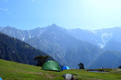 Um acampamento Fotos de Stock Royalty Free