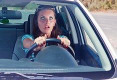 Um acidente na estrada Imagens de Stock
