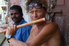 Um acordo esquecido para a flauta Foto de Stock