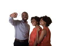 Um adolescente e seus amigos ou irmãos Imagem de Stock