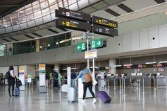Um aeroporto em Europa Fotografia de Stock
