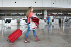 Um aeroporto em Europa Foto de Stock