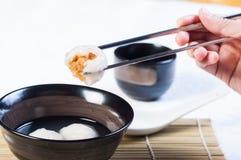 Bola de arroz glutenous chinesa fotos de stock royalty free