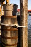 Um alqueire e um tambor imagens de stock