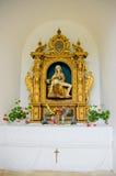 Um altar cristão. imagens de stock royalty free