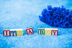 É um anúncio da gravidez do menino Imagem de Stock Royalty Free