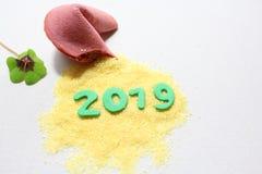 Um ano novo feliz 2019! imagem de stock royalty free