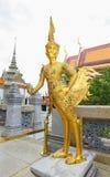 Um antigo de Kinnaree dourado Imagem de Stock Royalty Free
