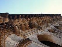 Um apoio de telhado decorado em Ibrahim Roza, Bijapur Foto de Stock