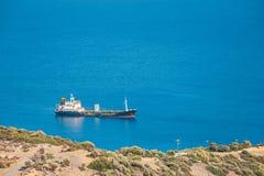 Um armazenamento de óleo principal e uma facilidade terminal, Creta, Grécia fotos de stock