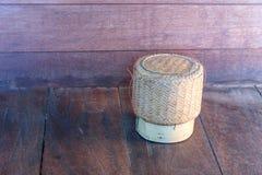 Um arroz de vime em casa Fotografia de Stock