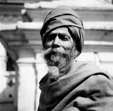 Um ascetic do indiano em um local do patrimônio mundial em Nepal Imagens de Stock Royalty Free