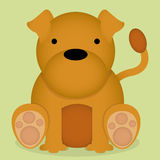 Um assento bonito do cão dos desenhos animados do vetor isolado Fotografia de Stock