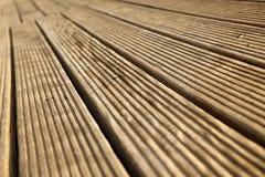 Plataforma de madeira de diminuição Fotos de Stock Royalty Free