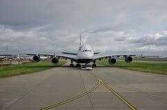 Um avião de Airbus A380 de British Airways (VAGABUNDOS) Imagem de Stock Royalty Free