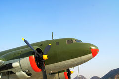 Um avião do vintage Imagens de Stock