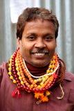 Um babá longo de Sadhu da barba Fotos de Stock