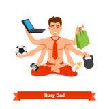 um Babyvater bearbeiten und kümmernd Lizenzfreie Stockfotos