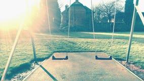Um balanço no parque Fotografia de Stock Royalty Free