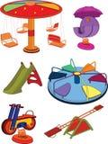 Um balanço o jogo completo das crianças. Desenhos animados Fotos de Stock Royalty Free