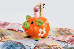 Um banco Piggy Fotos de Stock Royalty Free