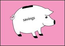 Um banco piggy branco Fotos de Stock Royalty Free