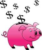 Um banco piggy cor-de-rosa Fotografia de Stock Royalty Free
