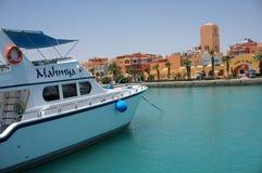 Um barco luxuoso foto de stock royalty free