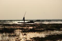 Um barqueiro Fotografia de Stock