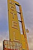 Um batente no café de Bagdade, na estrada 66 histórica Foto de Stock Royalty Free