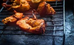 Um BBQ do aperitivo de Tandoori grelhado/Roasted o petisco das partes do peito de frango imagens de stock royalty free