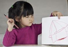 Um bebé é retratos do desenho foto de stock royalty free
