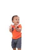 Um bebé feliz dos anos de idade Imagens de Stock Royalty Free