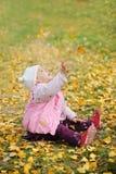 Um bebê chinês no outono Imagem de Stock Royalty Free