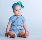 Um bebê dos anos de idade Imagens de Stock Royalty Free