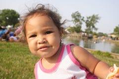 Um bebê interessado Imagem de Stock Royalty Free