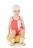 Um beb? ador?vel que joga feliz o mel Fotografia de Stock Royalty Free