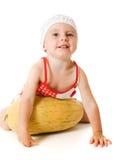Um beb? ador?vel que joga feliz o mel Fotos de Stock Royalty Free