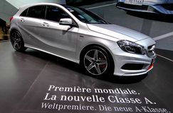 Um Benz Classe A de Mercedes Foto de Stock