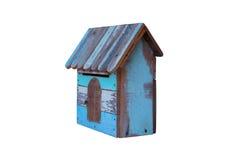 Um Birdhouse na neve Foto de Stock Royalty Free