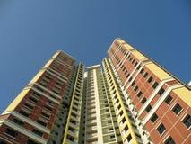 Um bloco de planos de HDB em Singap Imagens de Stock Royalty Free