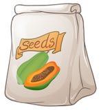 Um bloco de sementes da papaia Fotografia de Stock