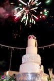 Um bolo de casamento foto de stock