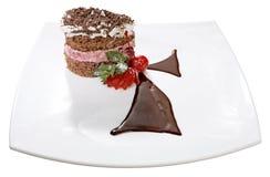 Um bolo de chocolate delicioso Fotografia de Stock Royalty Free