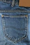 Um bolso de calças de ganga Foto de Stock