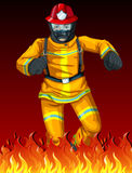 Um bombeiro Fotos de Stock Royalty Free